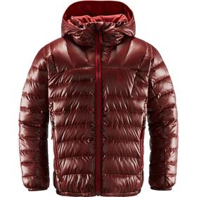 Haglöfs Bivvy Reversible Hood Ungdom maroon red/brick red